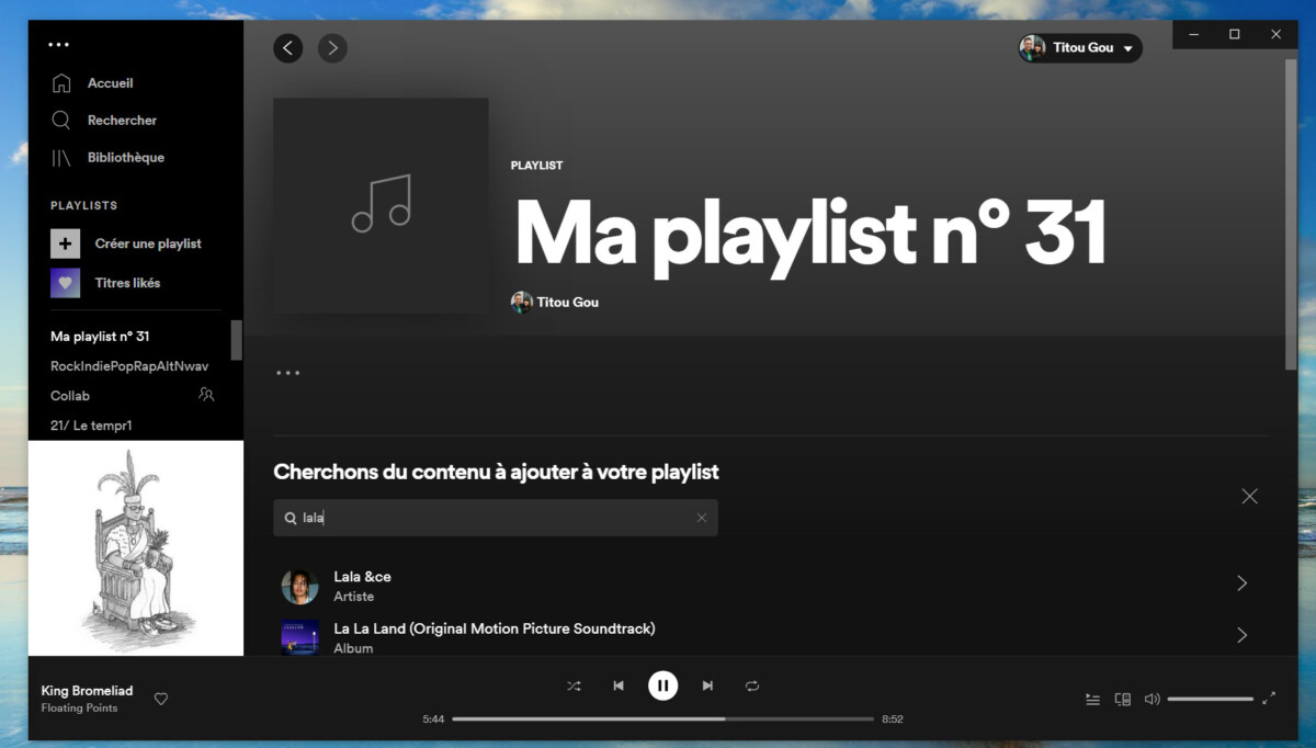 Le fonctionnement des playlists Spotify a été revu