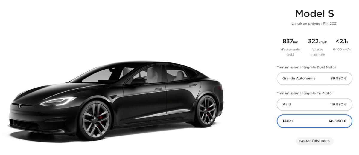 Le configurateur en ligne de la future Model S 2021