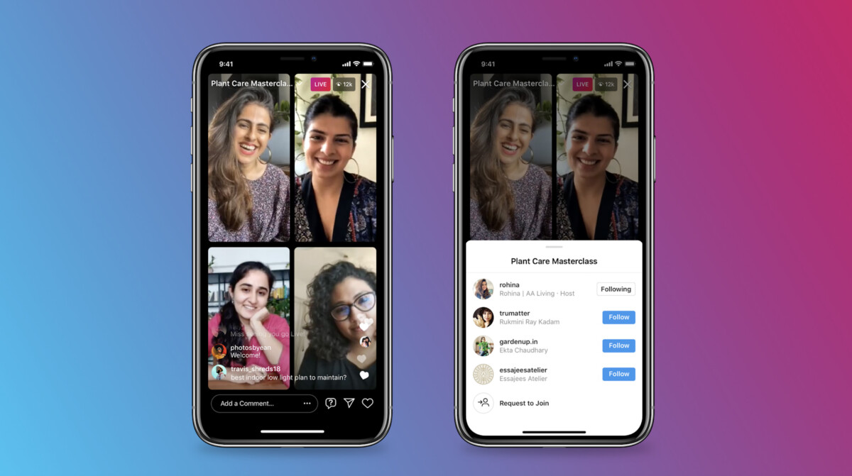Instagram launches Live Rooms for direct to several