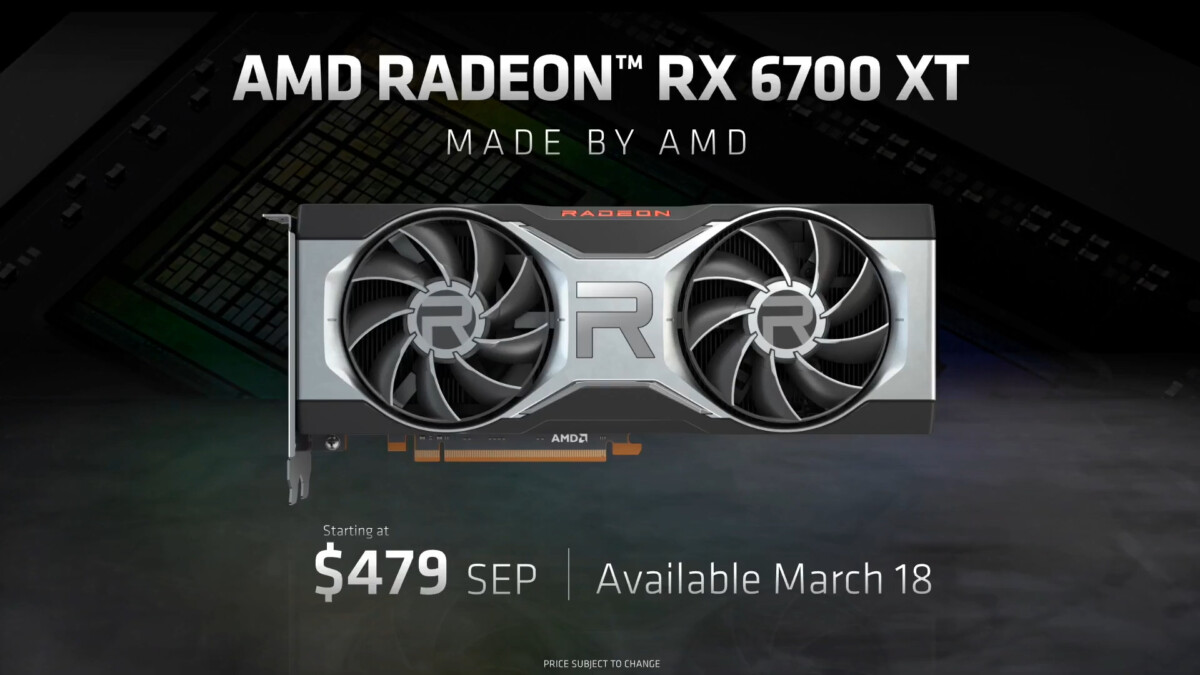 Radeon RX 6700 XT : AMD dévoile une nouvelle carte graphique RDNA 2 pour les écrans QHD