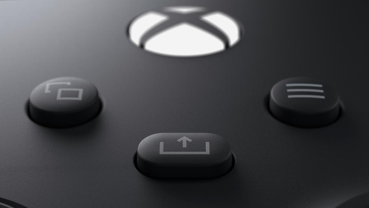 Le bouton share de la manette de Xbox Series X et Series S