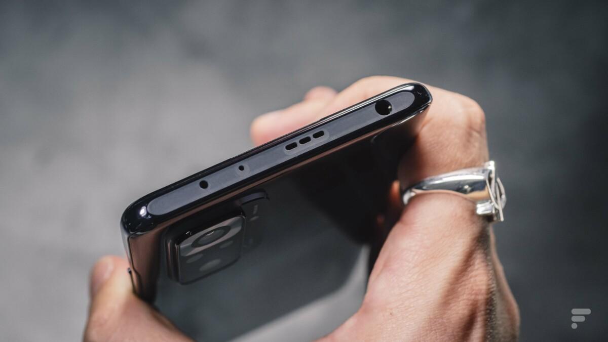 Tranche supérieur du Xiaomi Redmi Note 10 Pro