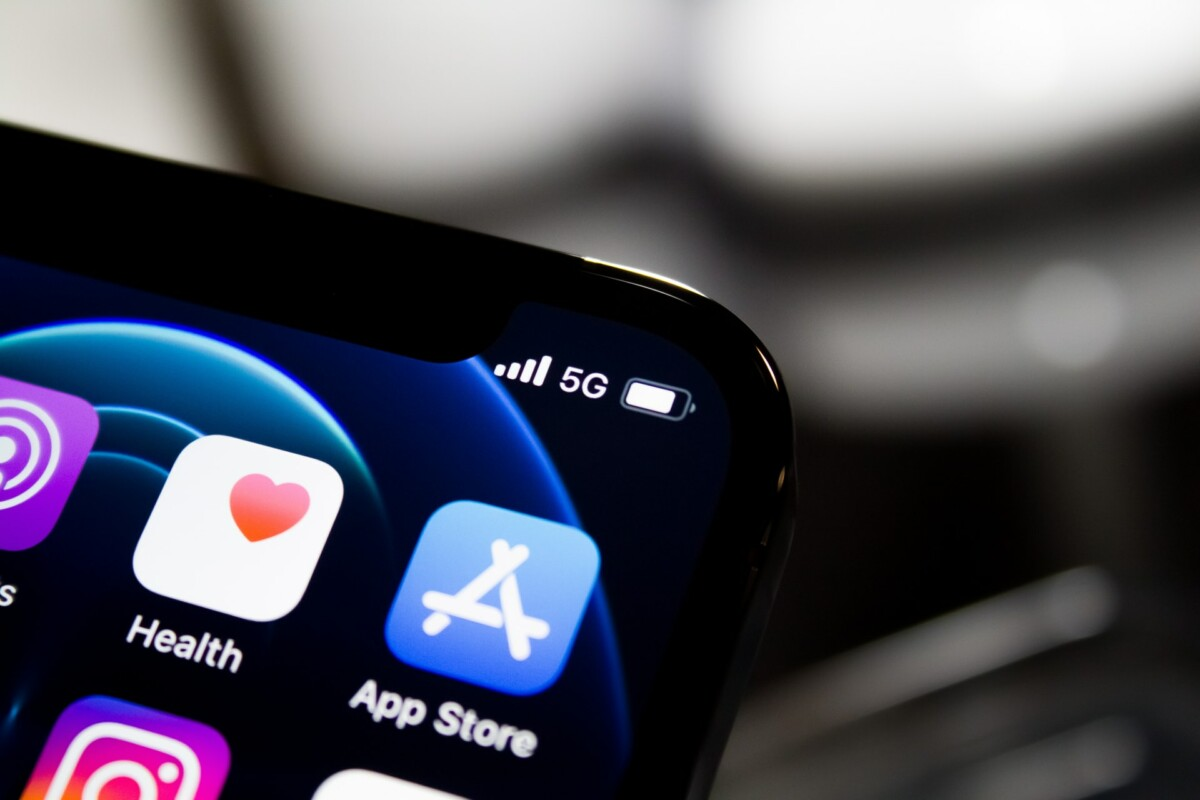 Le réseau 5G sur un iPhone