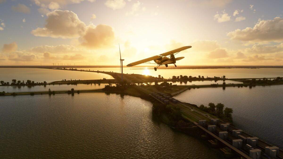 Les Pays-Bas dans Microsoft Flight Simulator