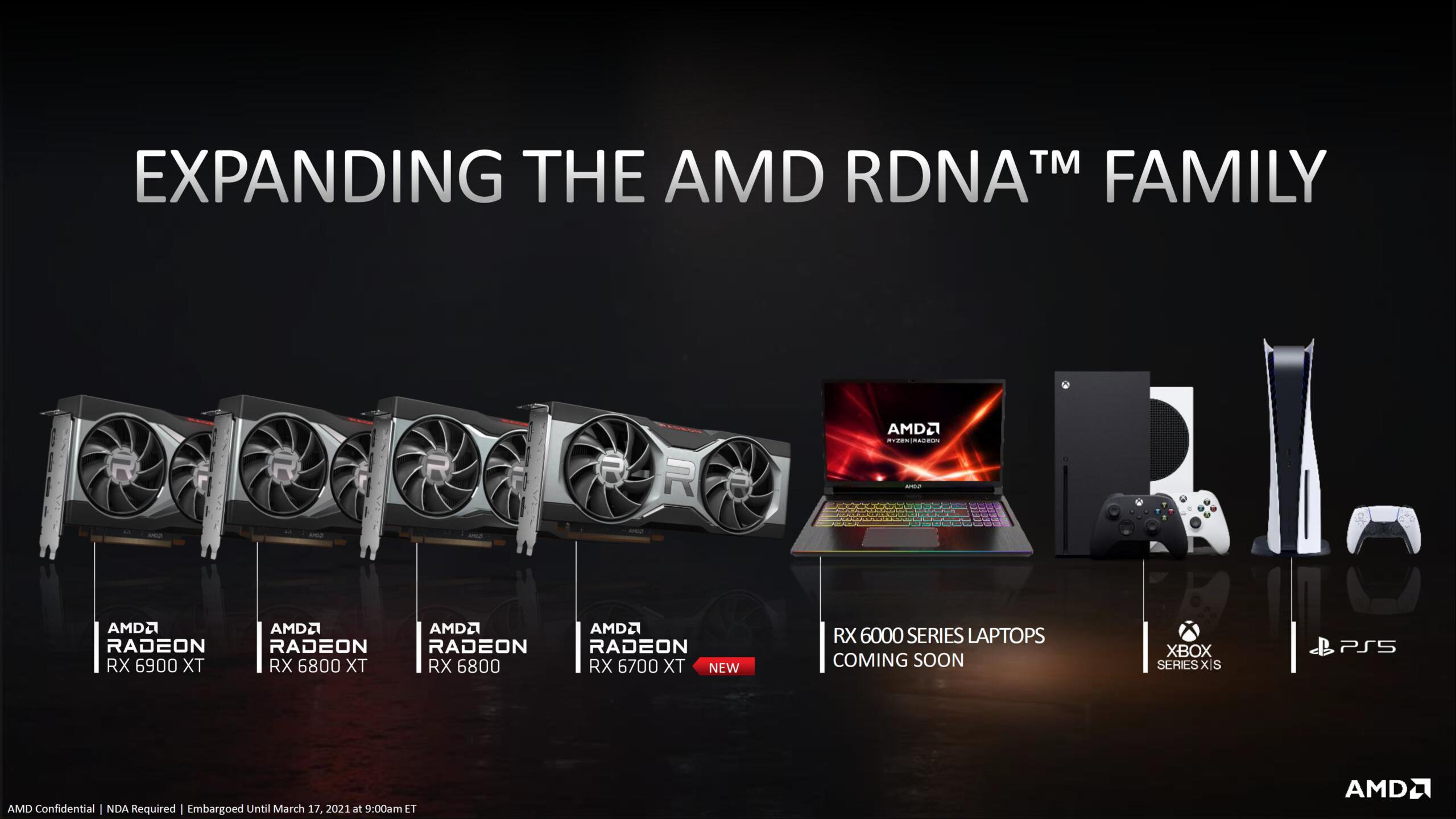 AMD : les Radeon RX 6000M arriveront avant l'été sur nos PC portables