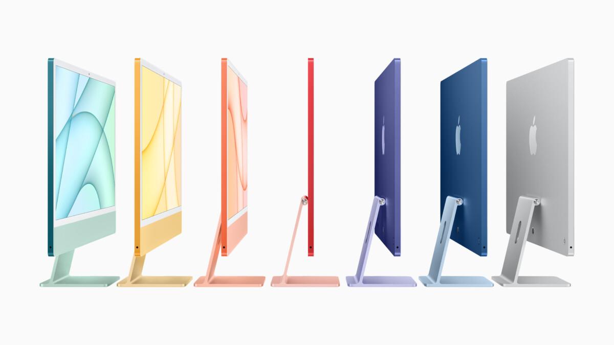La nouvelle gamme d'iMac avec puceM1