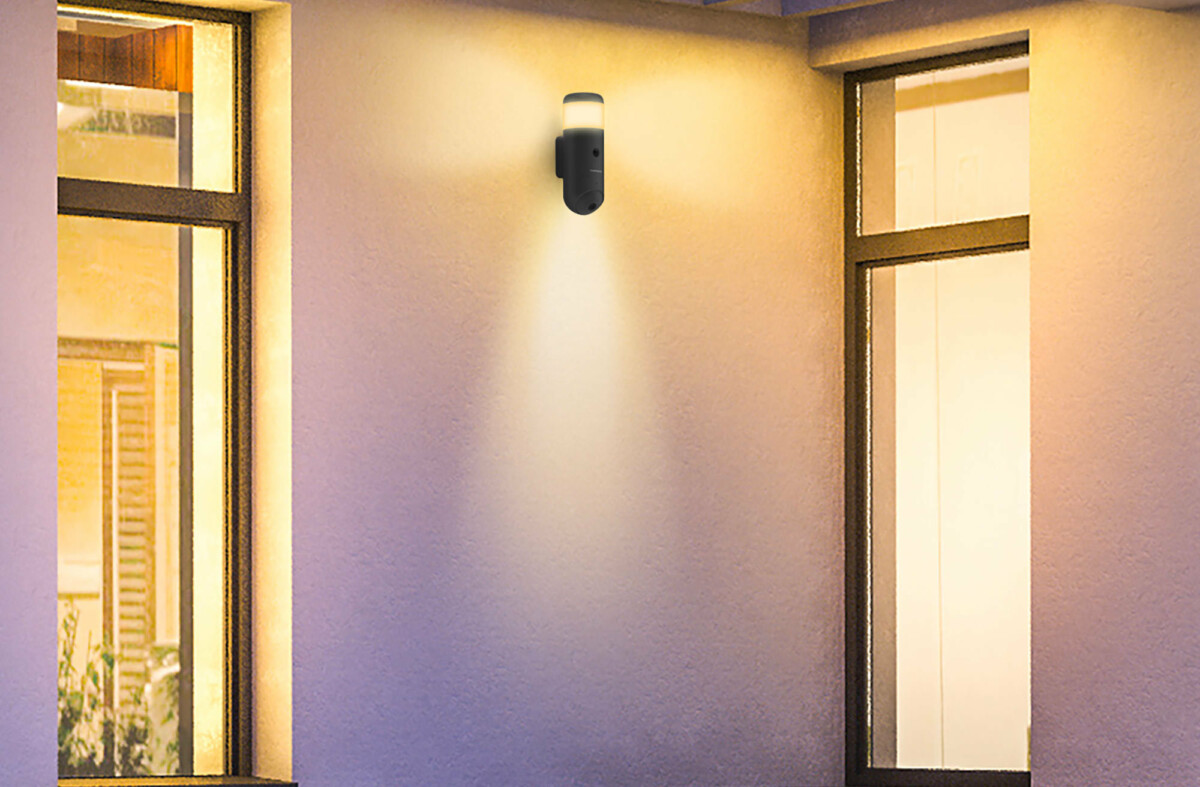 The Rheita 100 offers a surveillance camera, dual lighting and a siren