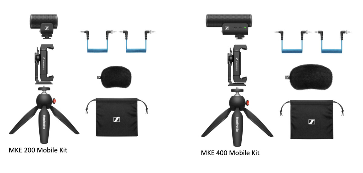 Mobile kits with gun microphone