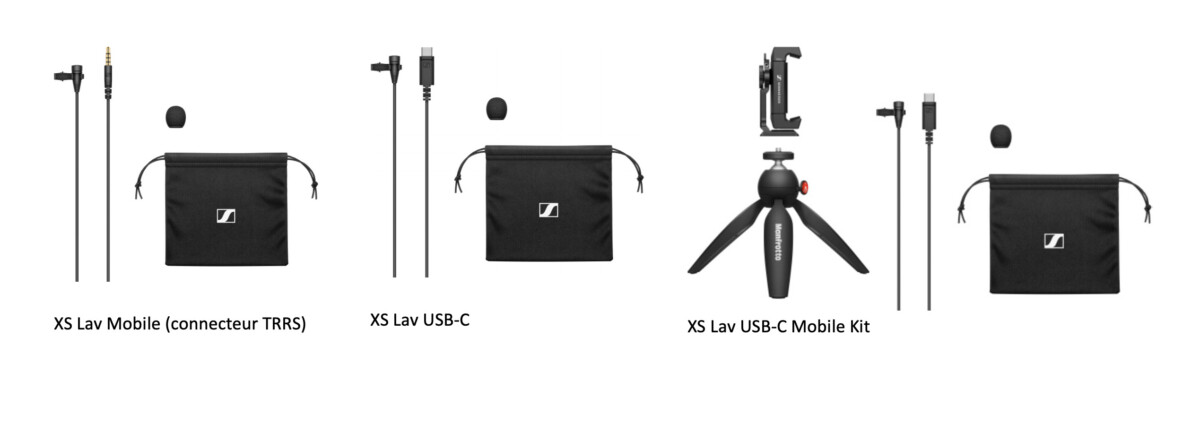 The range of mobile kits with lavalier microphone