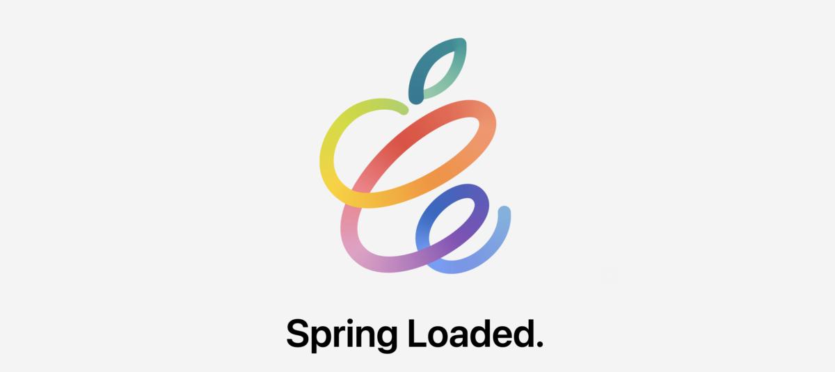 L'invitation pour la keynote de printemps d'Apple