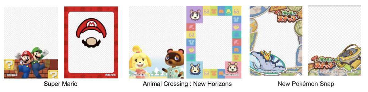 Les nouveaux cadres photo pour accompagner le partenariat entre Instax et Nintendo