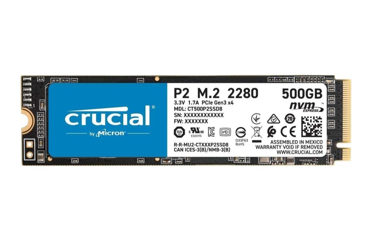 Ce SSD NVMe Crucial 500 Go est le meilleur rapport qualité-prix du moment