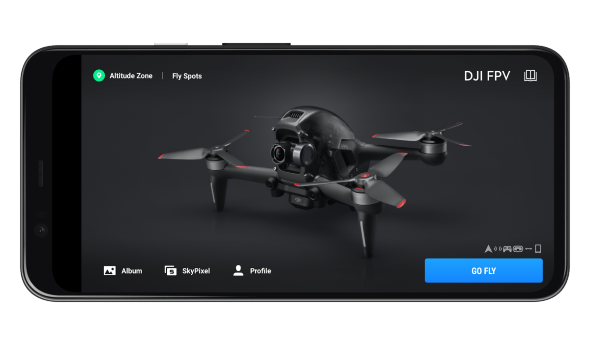 Le DJI FPV dans l'application DJI Fly