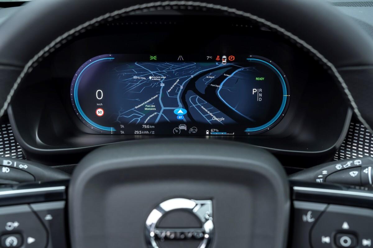 L'écran d'instrumentation peut aussi afficher la navigation / Source : ACE Team pour Volvo Cars France