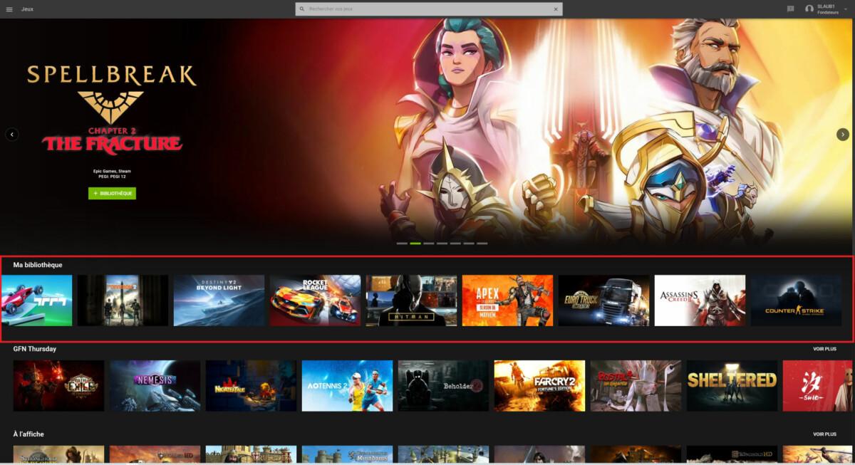 En synchronisant vos comptes Steam et GeForce Now, les jeux compatibles avec le service de cloud gaming apparaissent automatiquement
