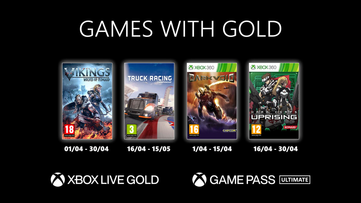 Les jeux Games with Gold offerts en avril 2021