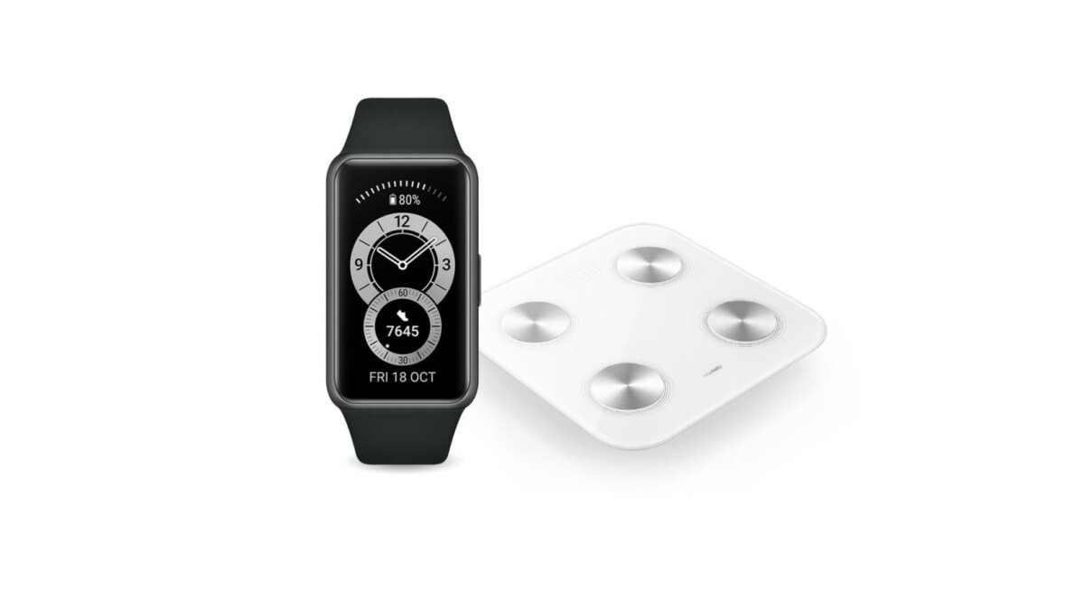 huawei band 6 balance scale 3 1200x655 - Huawei offers its new Band 6 with a connected scale for 59 € - Frandroid
