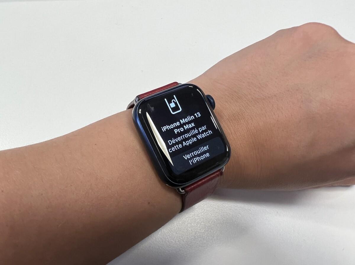 L'Apple Watch vous signale le déverrouillage de l'iPhone