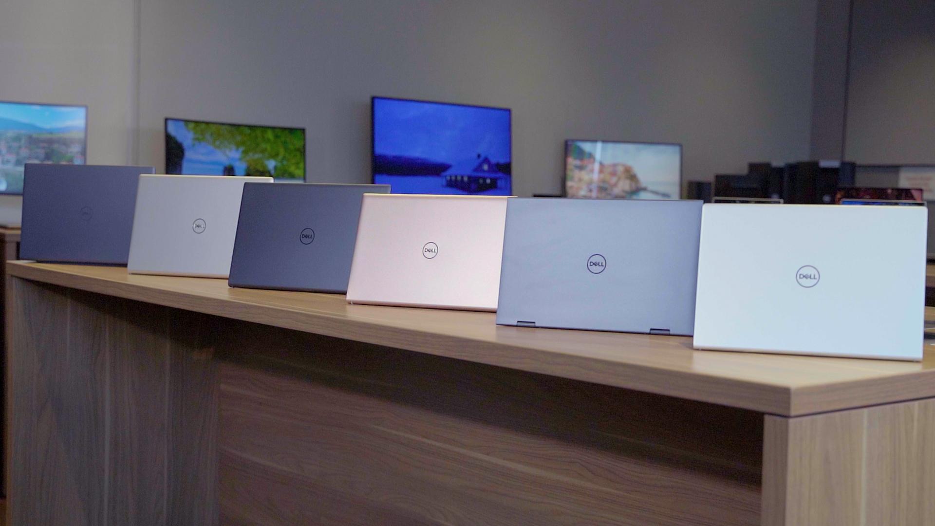 Ici la nouvelle gamme Dell Inspiron, pour illustration