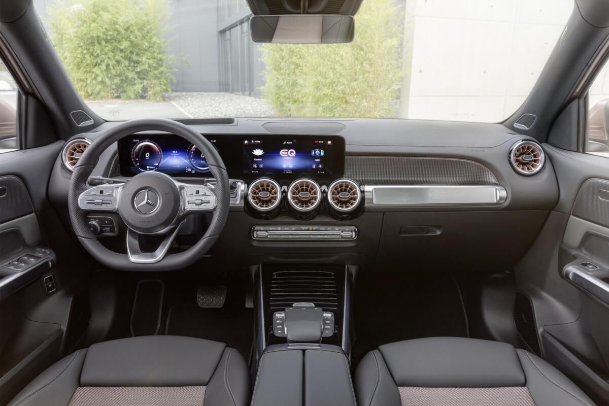 L'intérieur de la Mercedes EQB
