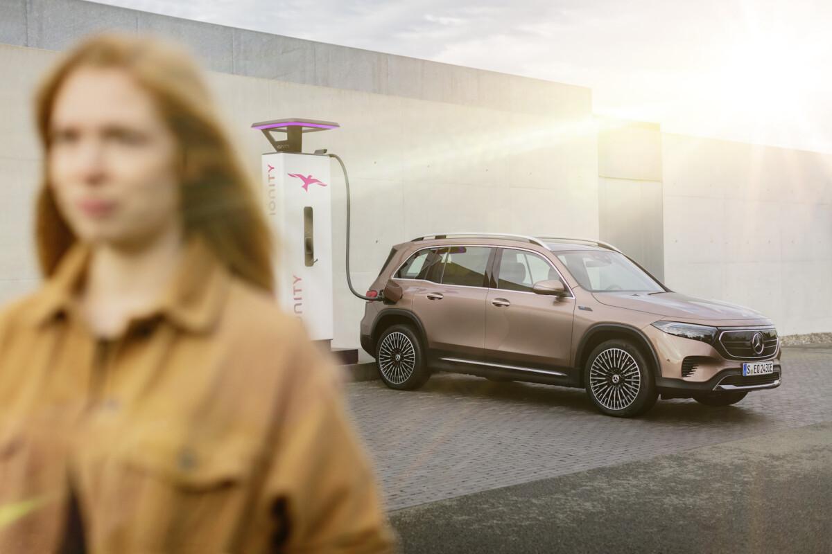 Le réseau IONITY pourra recharger jusqu'à 100 kW la Mercedes EQB