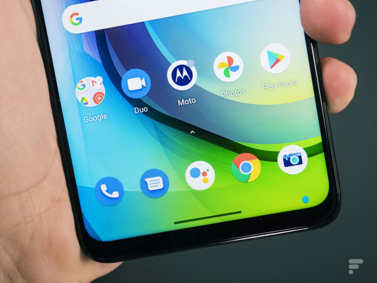 L'interface du Motorola Moto G 5G est épurée