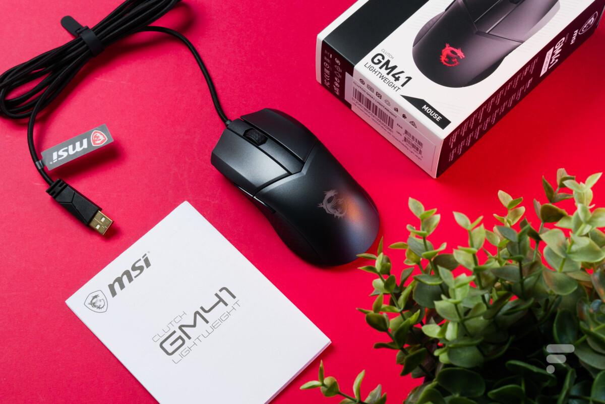 Test complet de la souris MSI Clutch GM41 Lightweight