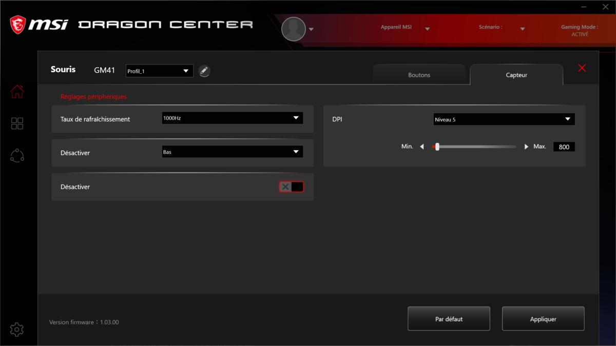 Dragon Center - MSI Clutch GM41 Lightweight