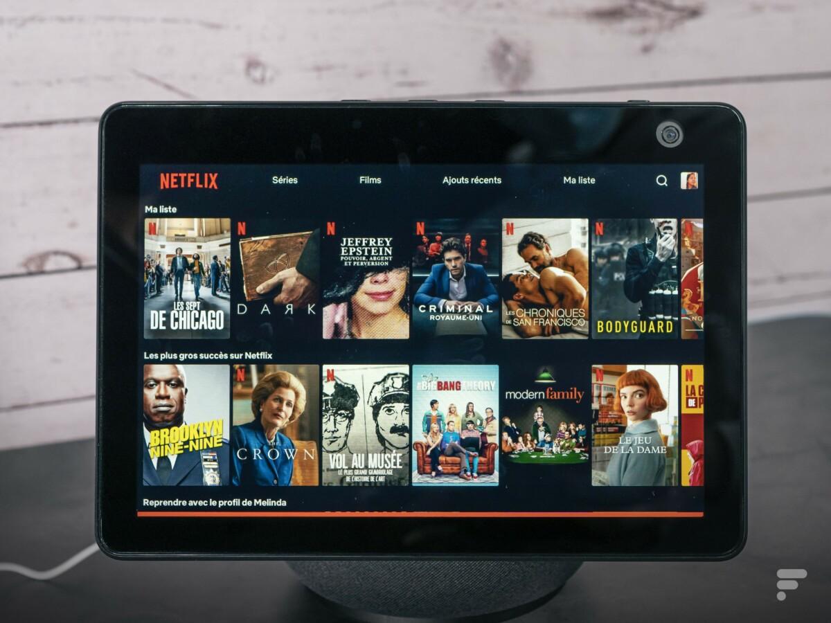 Netflix sur l'Amazon Echo Show 10.