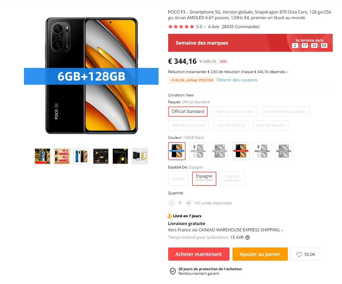 poco f3 aliexpress commande - Xiaomi Poco F3: its launch price is back on AliExpress - Frandroid
