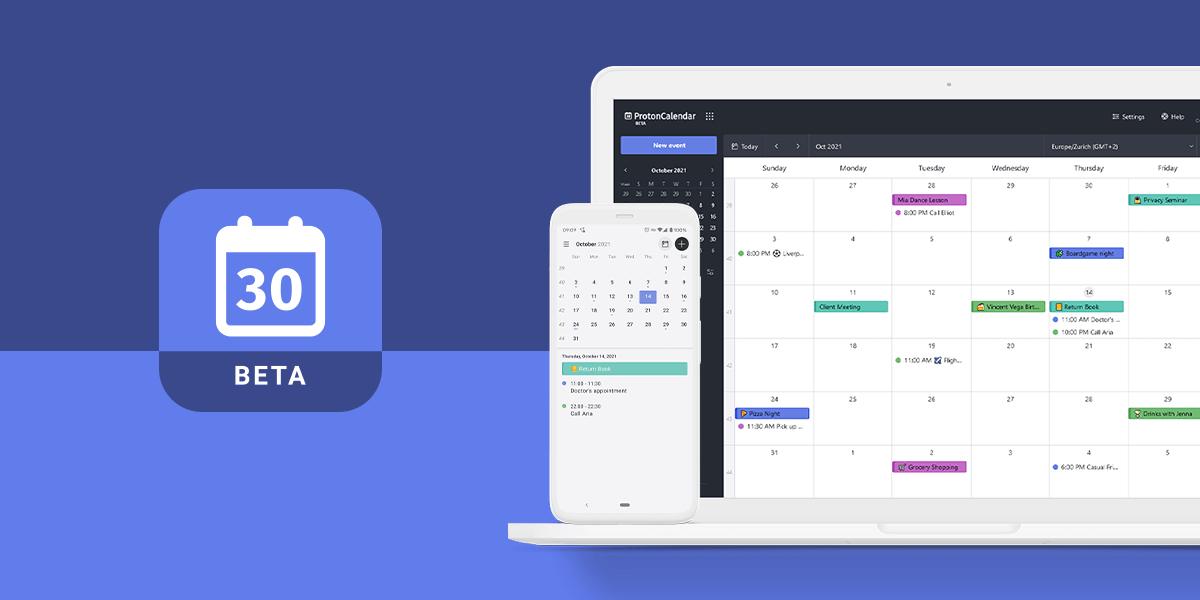 Proton Calendar est enfin accessible à tous les utilisateurs.