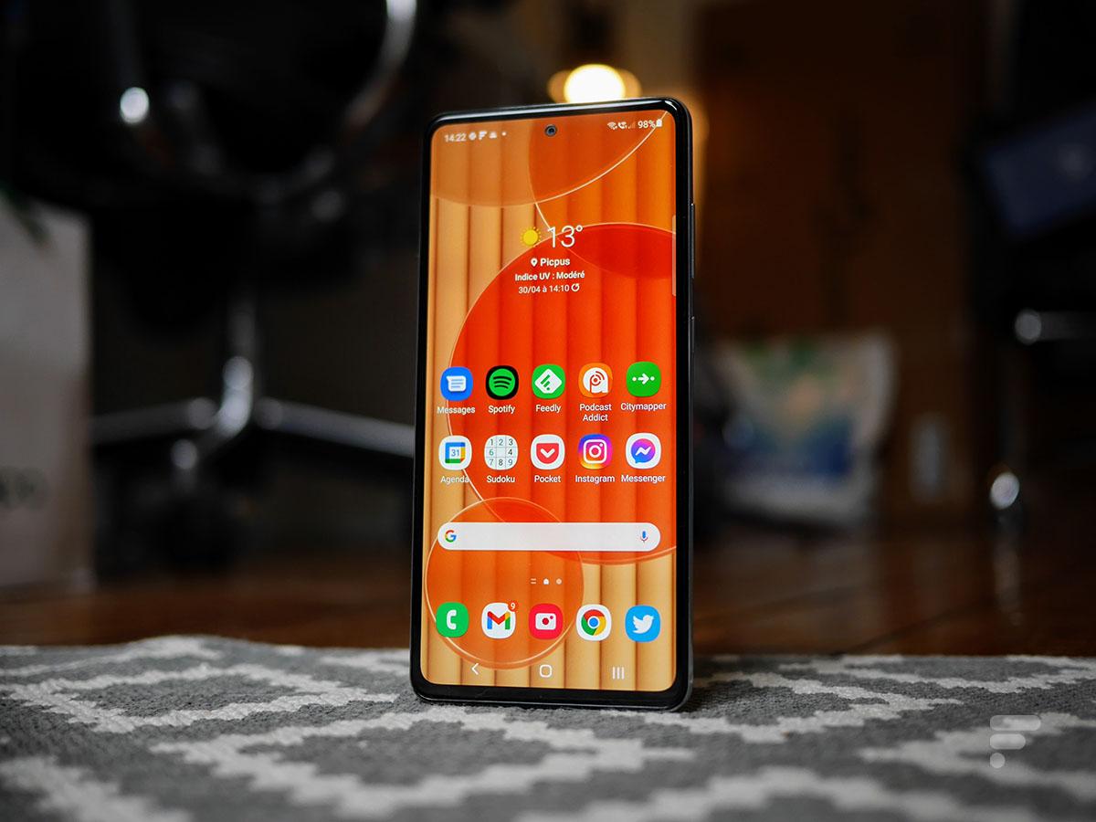 L'écran du Samsung Galaxy A72