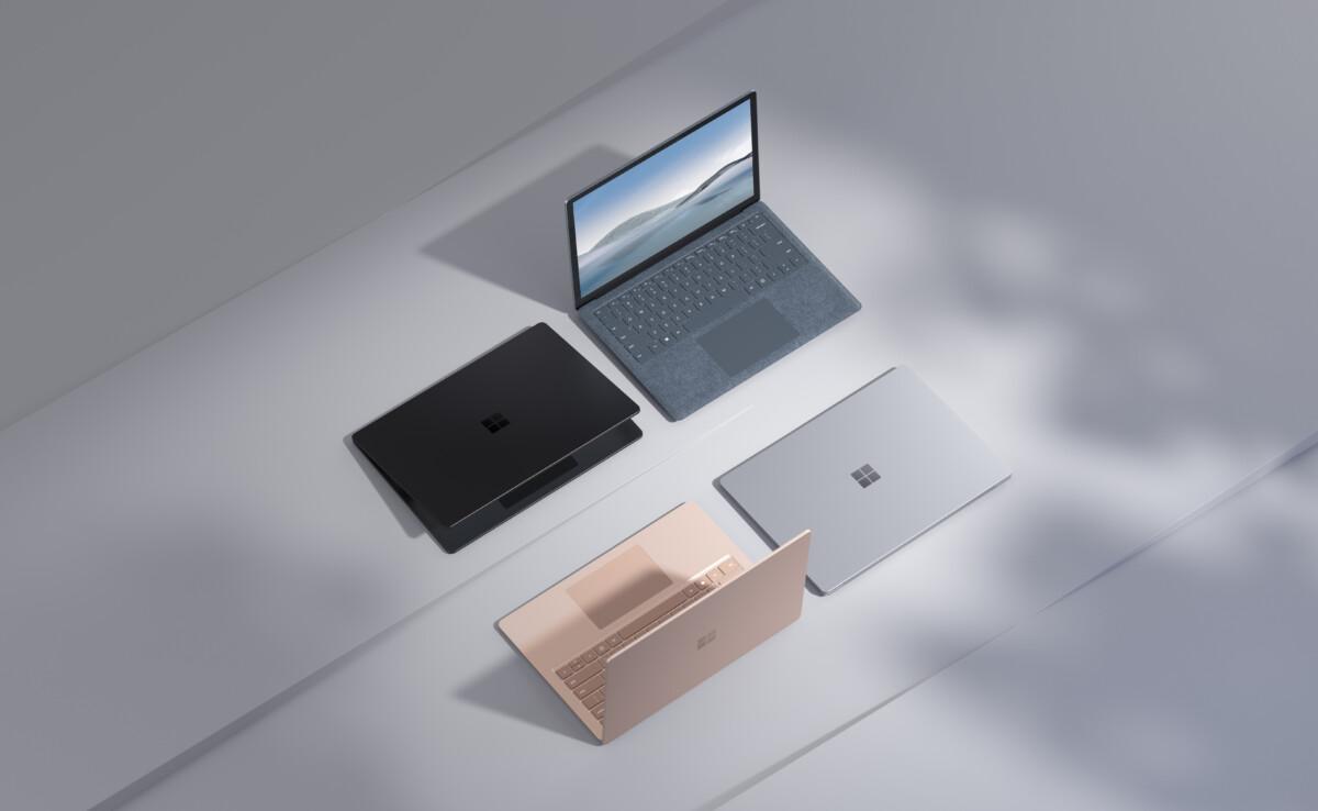 Los diferentes colores y modelos de Surface Laptop 4.