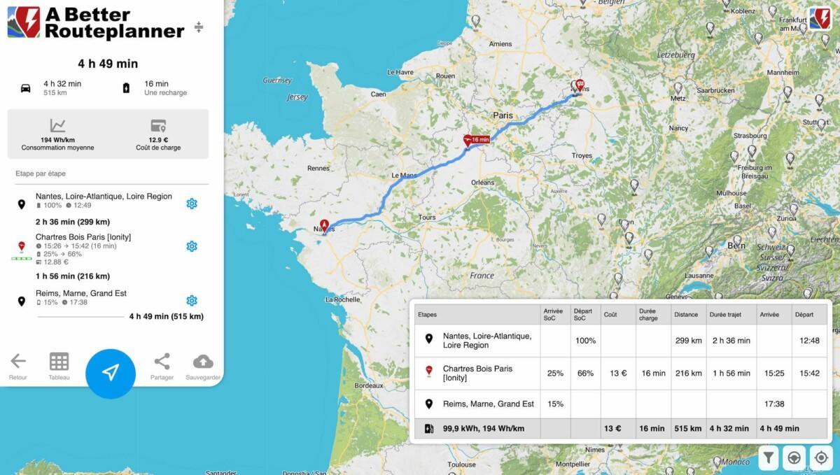 13 euros pour 500 kilomètres en Model 3 Grande Autonomie