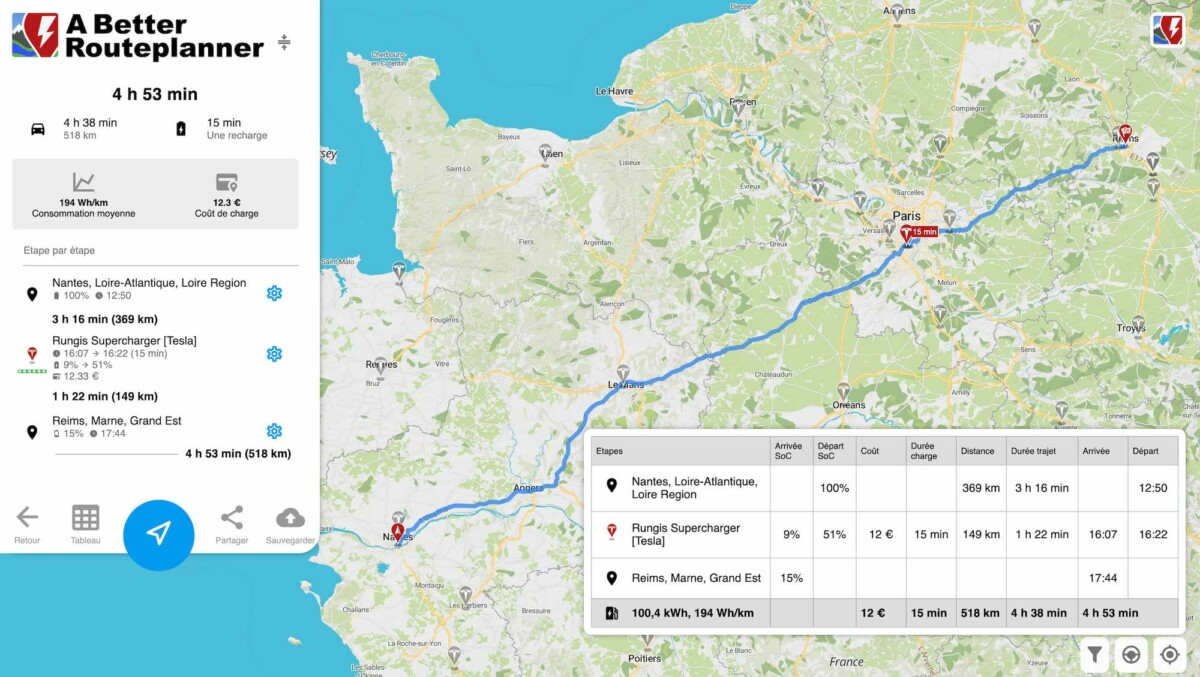 La Tesla Model 3 Grande Autonomie permet de faire plus de 350 kilomètres d'une traite