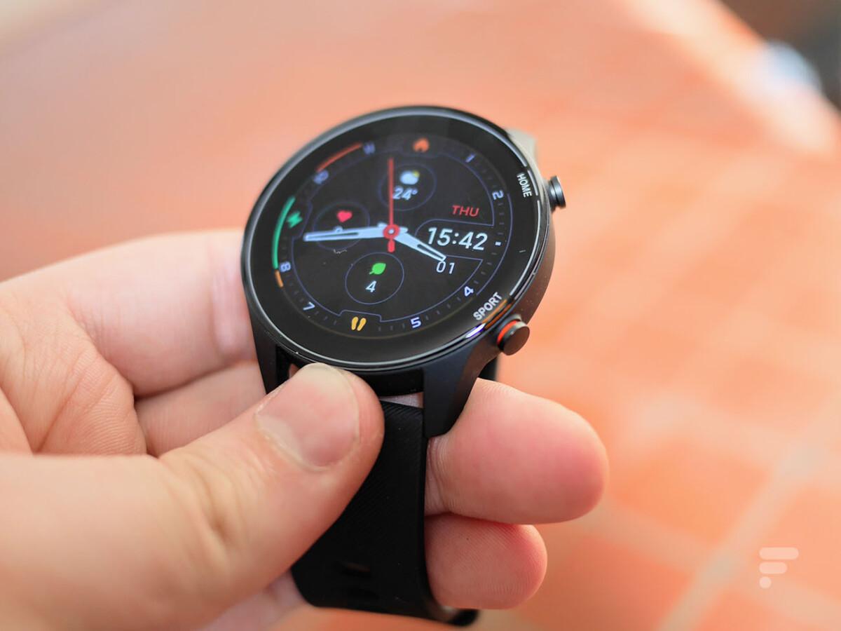 Les boutons de la montre Xiaomi Mi Watch