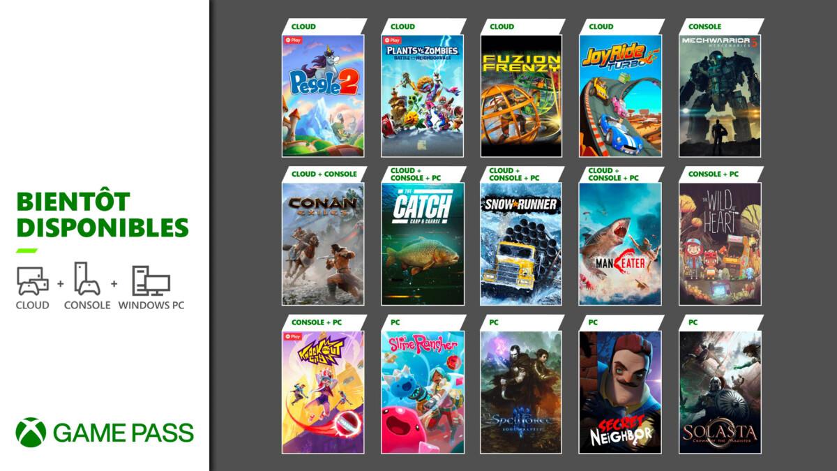 Le second lot d'ajouts au Xbox Game Pass en mai
