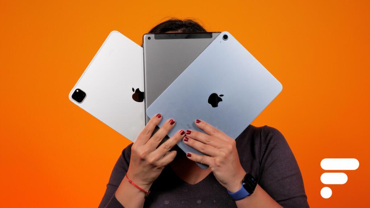 L'iPad Pro 2021, l'iPad2020 et l'iPad Air2020