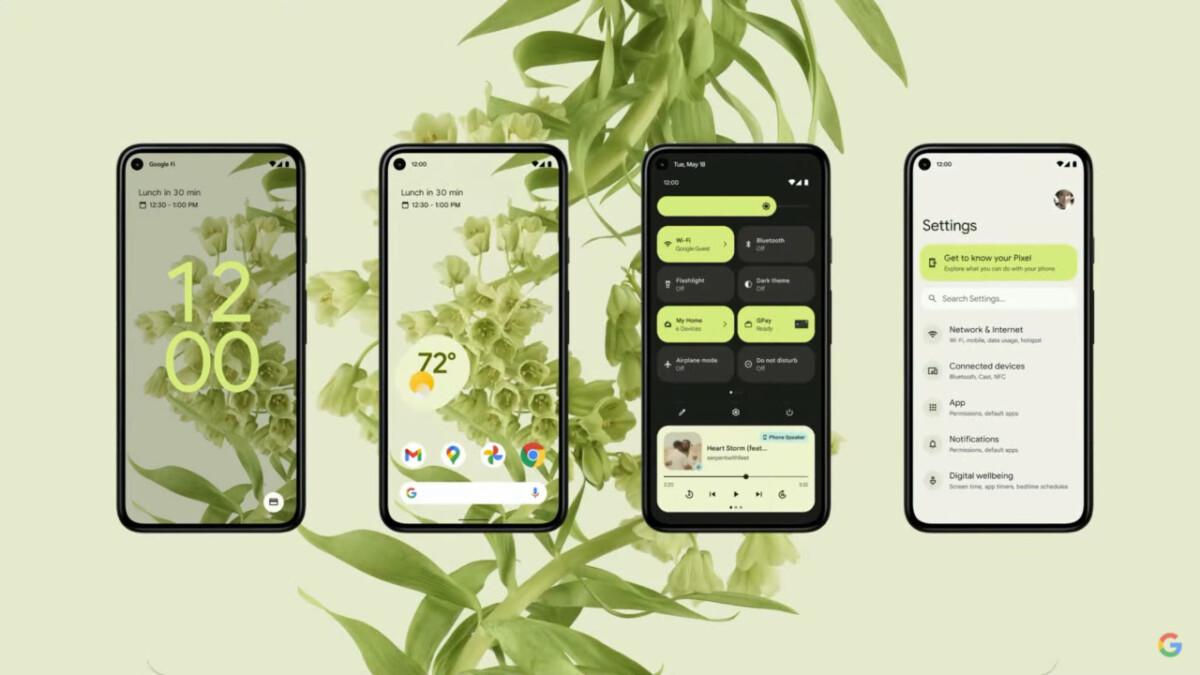 Le nouveau design Material You d'Android 12