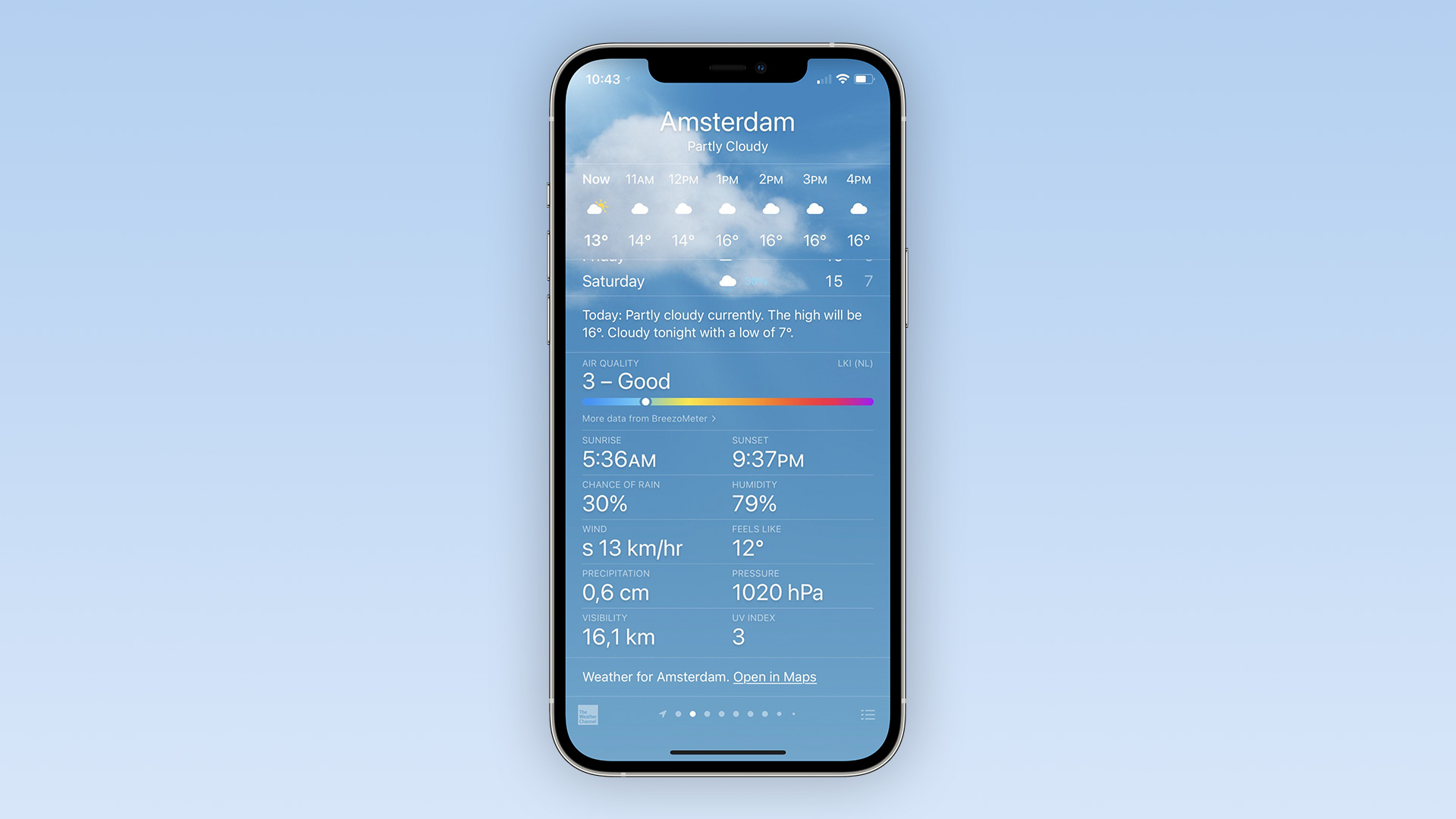 air quality weather ios - l'iPhone va bientôt jauger la qualité de l'air en France