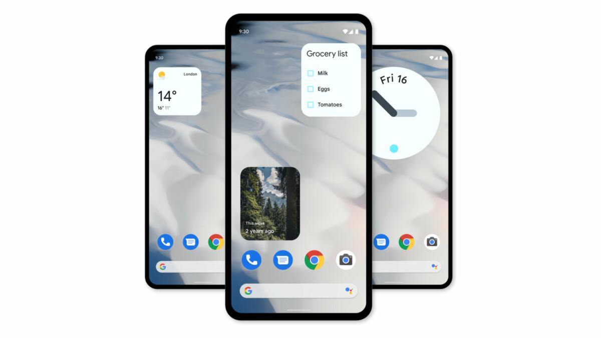 Exemple de widgets sur Android 12