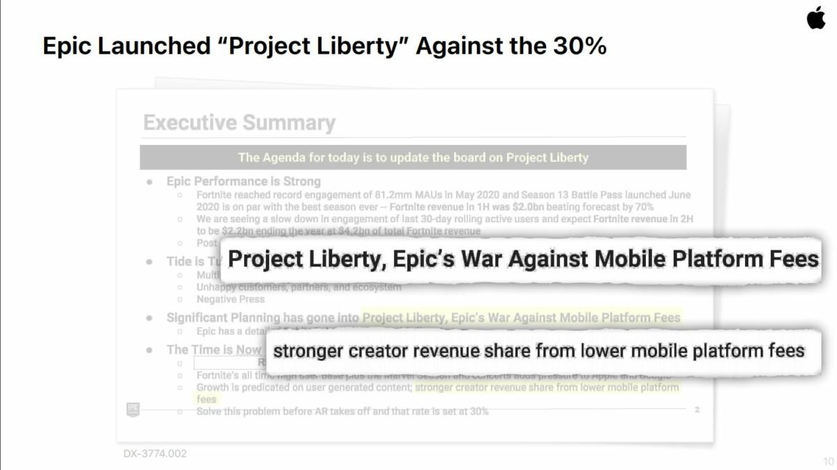 Apple pointe du doigt le «Project Liberty» d'Epic Games
