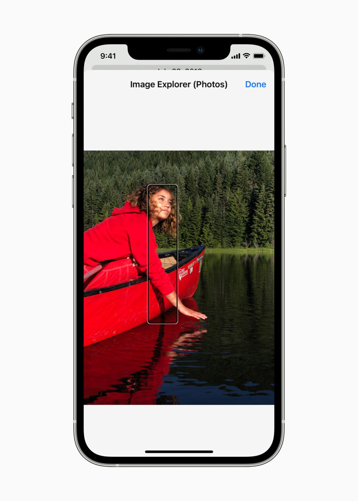 O VoiceOver agora pode descrever todos os elementos da sua imagem