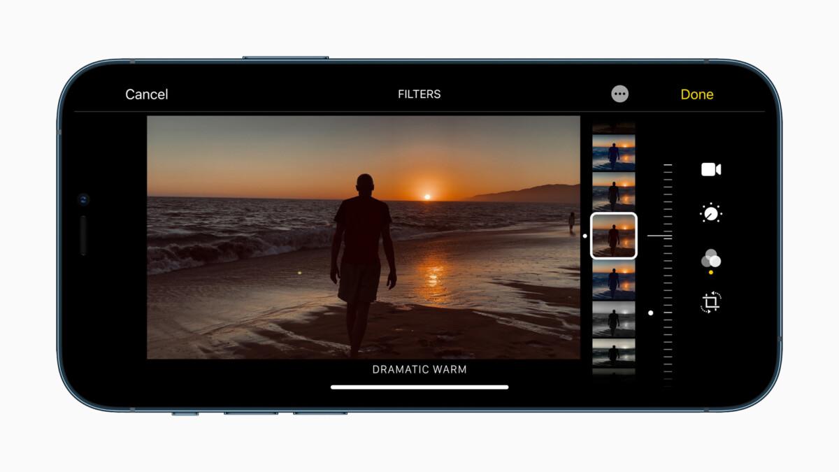 La gestion des filtres sur un iPhone12 Pro