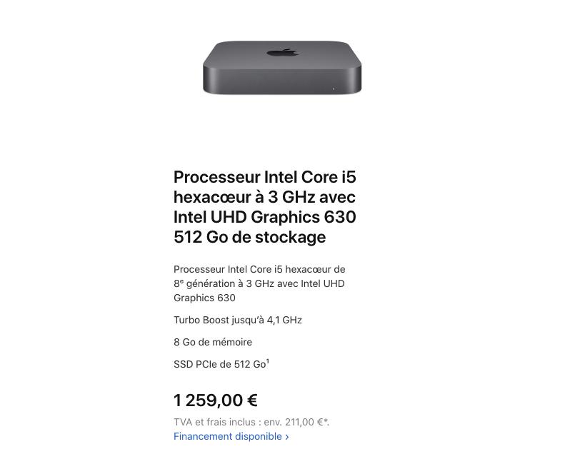 On peut toujours acheter le Mac Mini Intel
