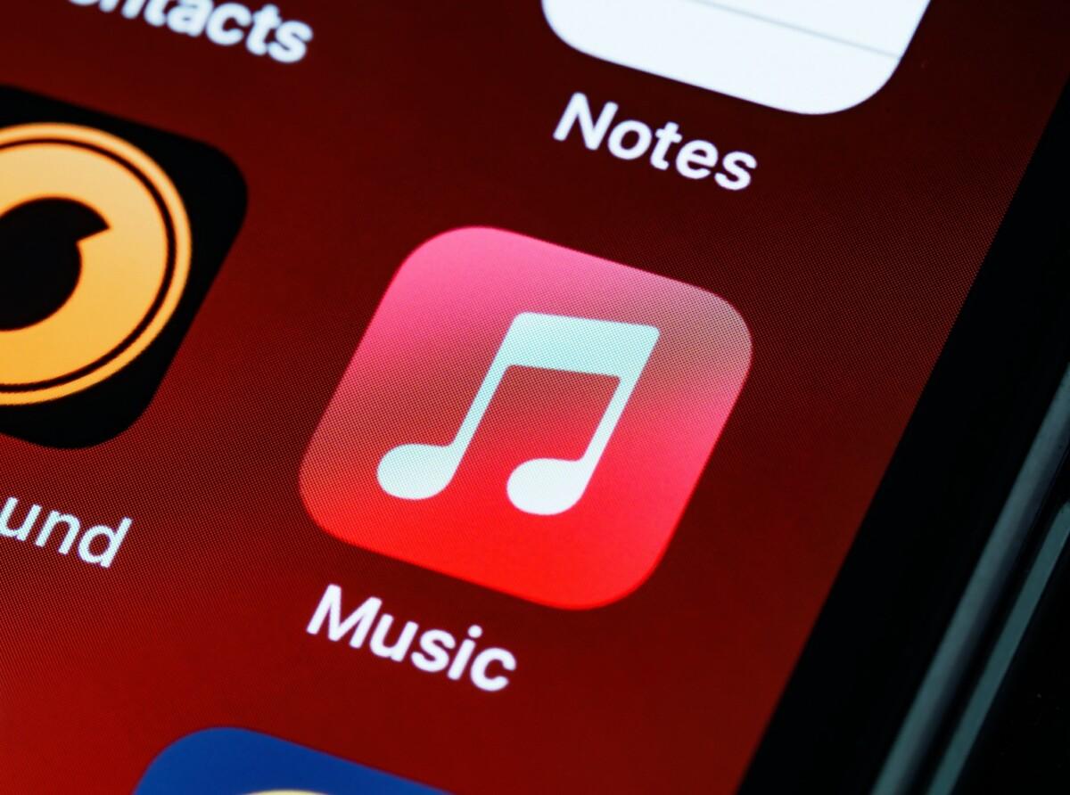 L'application Apple Music sur smartphone