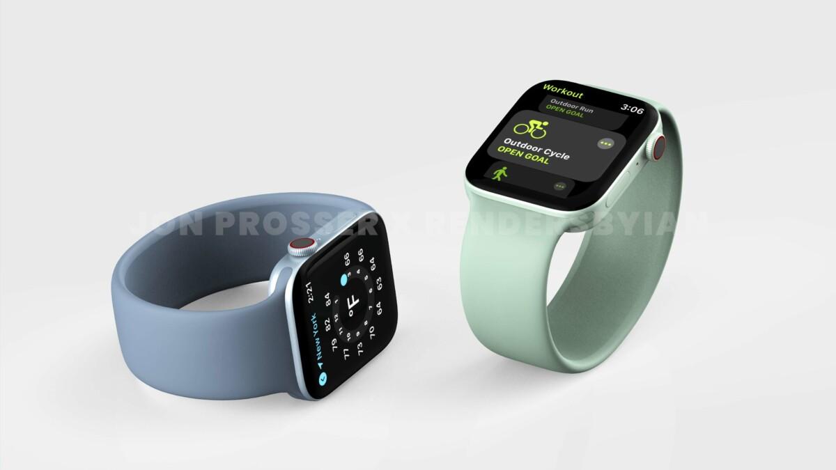 Rendu 3D de l'Apple Watch Series 7
