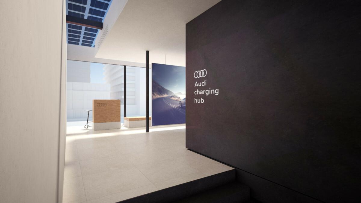 Le lounge du Audi Charging Hub