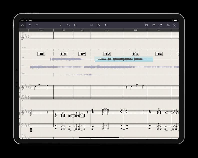 L'application StaffPad pour les compositeurs de musique