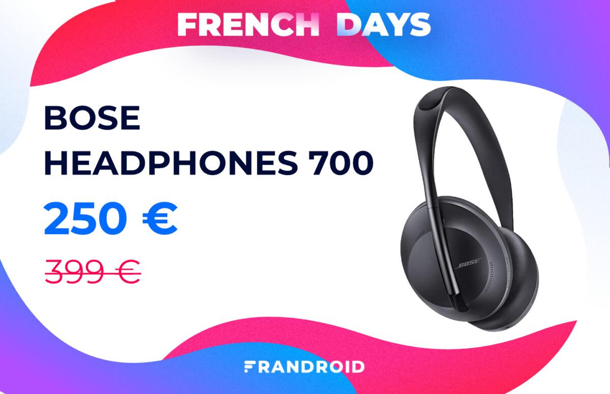 Pour les French Days, le Bose Headphones 700 chute à un prix encore jamais vu
